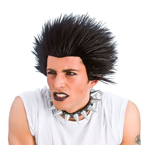 Adult Punk Wig for 70s 80s 90s Fancy Dress Cosplay Outfit